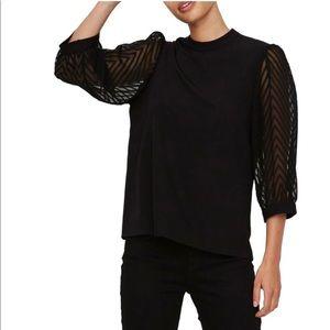 vero moda three quarter puffed sleeve